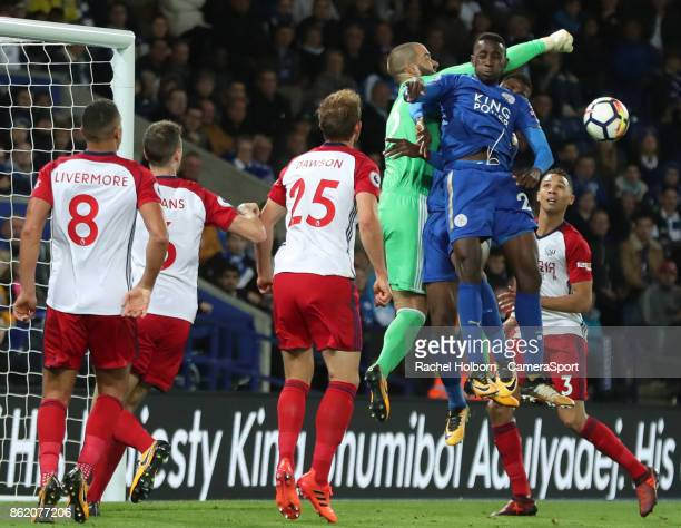 Leicester City's Wilfred Ndidi during the Premier League match between Leicester City and West Bromwich Albion at The King Power Stadium on October...