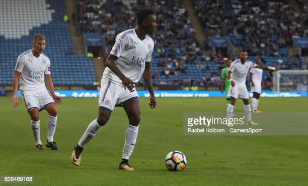 Leicester City's Wilfred Ndidi during the preseason friendly match between Leicester City and Borussia Moenchengladbach at The King Power Stadium on...