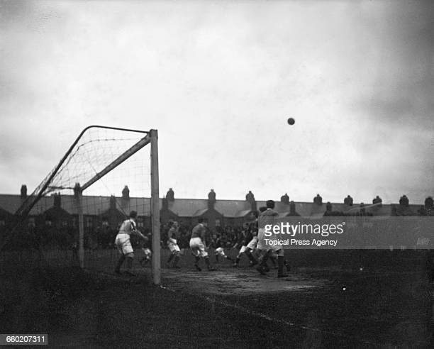 Leicester Fosse FC later renamed Leicester City FC during a League Division Two match against Leeds City FC UK 7th February 1914