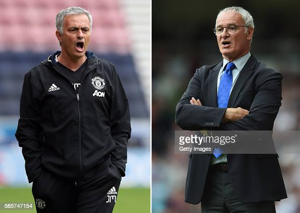 COMPOSITE OF TWO IMAGES Image numbers 576692476 and 484300450 In this composite image a comparision has been made between Manchester United manager...