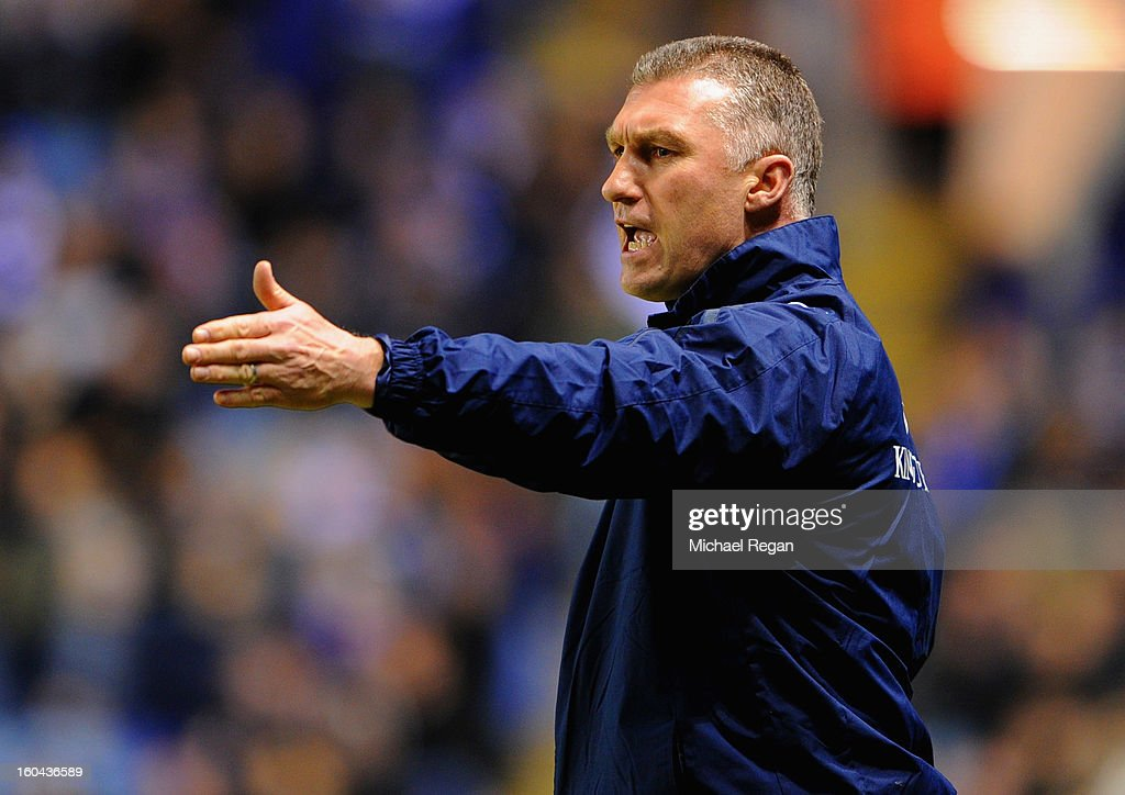 Leicester manager Nigel Pearson looks on during the npower Championship match between Leicester City and Wolverhampton Wanderers at The King Power Stadium on January 31, 2013 in Leicester, England.