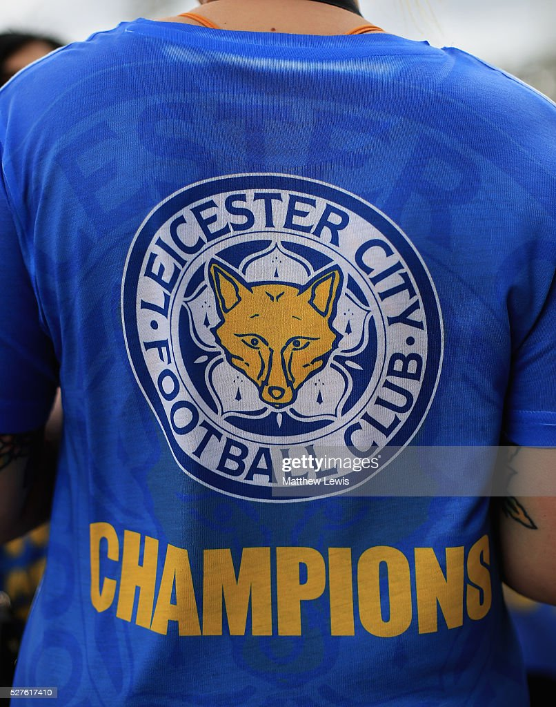 Leicester reacts to Leicester City's Premier League Title Success on May 03, 2016 in Leicester, England.