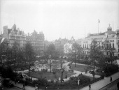 Leicester Square London c1910 Leicester Square is at the heart of London's theatre land and the Alhambra Theatre can be seen to the right People...