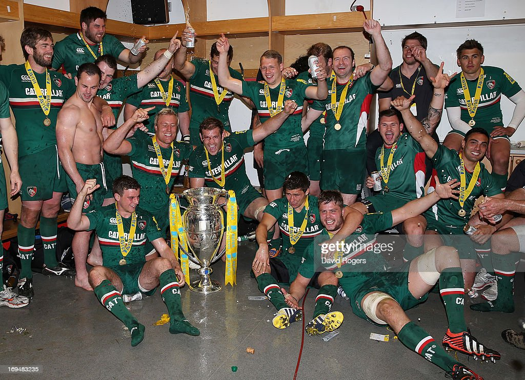 Leicester Tigers celebrate their victory during the Aviva Premiership Final between Leicester Tigers and Northampton Saints at Twickenham Stadium on May 25, 2013 in London, England.