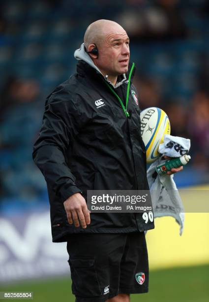 Leicester Tigers head coach Richard Cockerill during the Aviva Premiership match at Adams Park High Wycombe