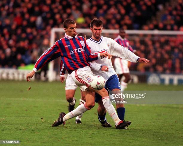 Leicester's Ian Marshall and Crystal Palace's Valerien Ismael during their FA Cup 4th round match at Selhurst Park today Final score Palace 3...