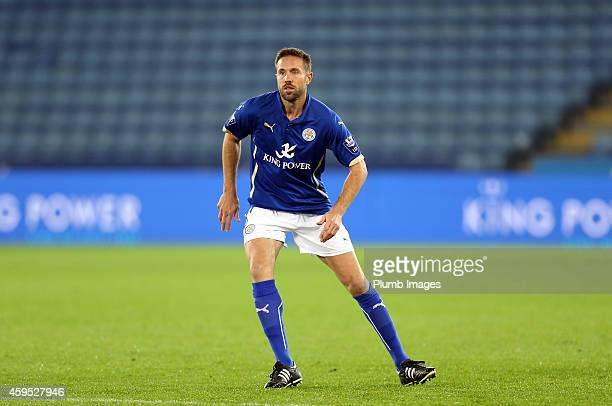 Leicesters Matthew Upson makes his return from injury during the Premier League International Cup match between Leicester City FC and Benfica at The...