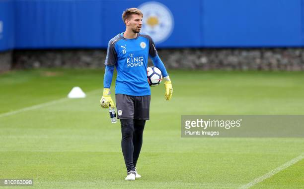 Leicester's RonRobert Zieler during the Leicester City Training session at Belvoir Drive Training Complex on July 07 2017 in Leicester United Kingdom