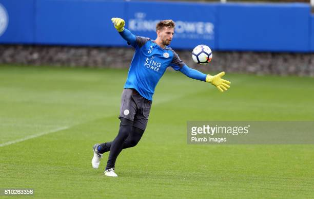 Leicester's RonRobert Zieler during the Leicester City Training session at Belvoir Drive Training Complex on July 7 2017 in Leicester United Kingdom