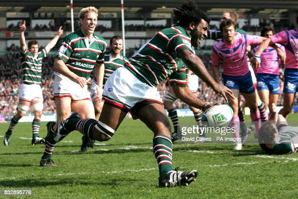 Leicester's Seri Rabeni scores the opening try of the match