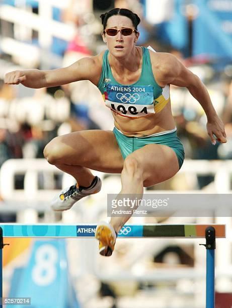 Leichtathletik Olympische Spiele Athen 2004 Athen 400m Huerden / Frauen Jana PITTMAN / AUS 210804