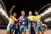 Leichtathletik Olympische Spiele Athen 2004 Athen 4x400m Staffel / Maenner Team Australien Silber Adam BASIL Paul di BELLA Patrick JOHNSON Joshua...