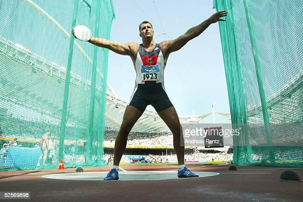 Leichtathletik Olympische Spiele Athen 2004 Athen Diskuswerfen / Maenner Lars RIEDEL / GER 210804