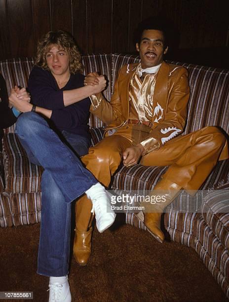 Leif Garrett and Bobby Farrell of Boney M circa 1976 in Los Angeles California **EXCLUSIVE**