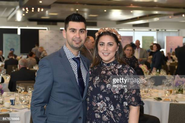Leif Horfield and Jennifer Salem at Flemington Racecourse on September 16 2017 in Flemington Australia