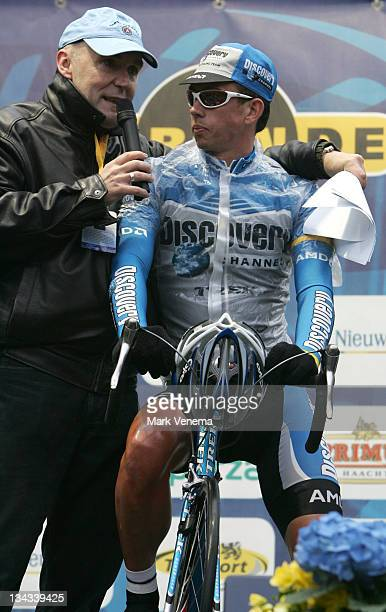 Leif Hoste of Cycling Team Discovery Channel at the start of the 90th edition of the Tour of Flanders in Belgium April 2 2006