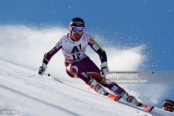 Leif Kristian Haugen of Norway competes during the Audi FIS Alpine Ski World Cup Men's Giant Slalom on October 26 2014 in Soelden Austria