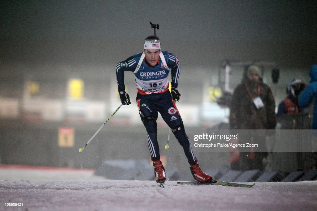 Leif Nordgren of the USA competes during the IBU Biathlon World Cup Men's Relay on January 04, 2013 in Oberhof, Germany.