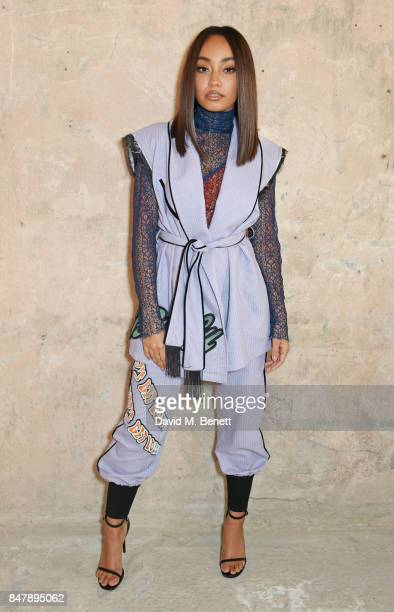 Leigh Anne Pinnock attends the Henry Holland SS18 catwalk show during London Fashion Week September 2017 at TopShop Show Space on September 16 2017...