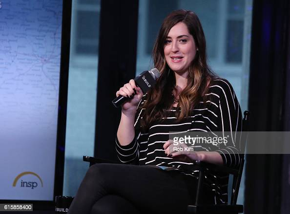 Leigh Blickley moderates a discussion at the Build Series at AOL HQ on October 20 2016 in New York City