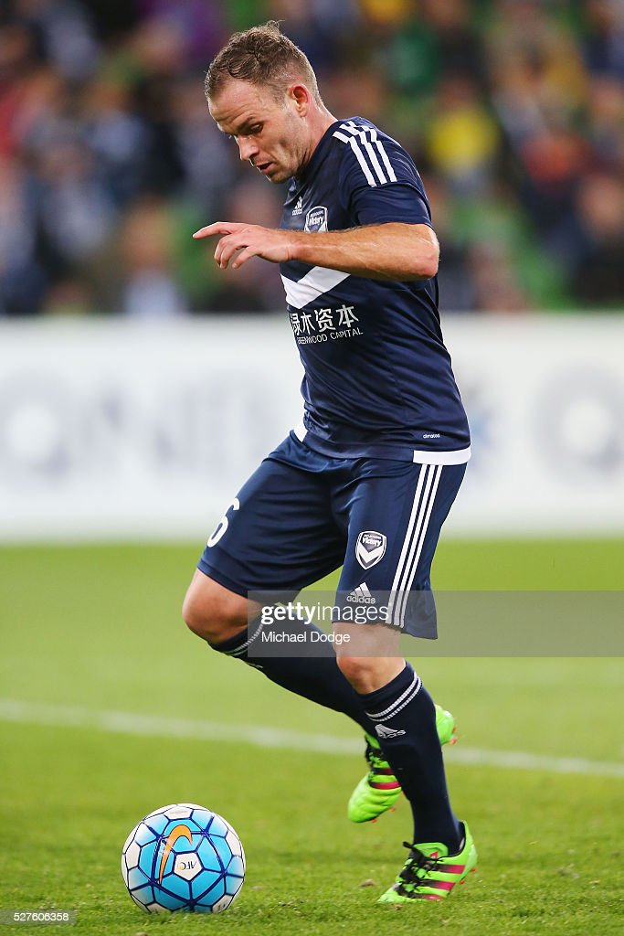 <a gi-track='captionPersonalityLinkClicked' href=/galleries/search?phrase=Leigh+Broxham&family=editorial&specificpeople=4103215 ng-click='$event.stopPropagation()'>Leigh Broxham</a> of the Victory controls the ball during the AFC Champions League match between Melbourne Victory and Gamba Osaka at AAMI Park on May 3, 2016 in Melbourne, Australia.
