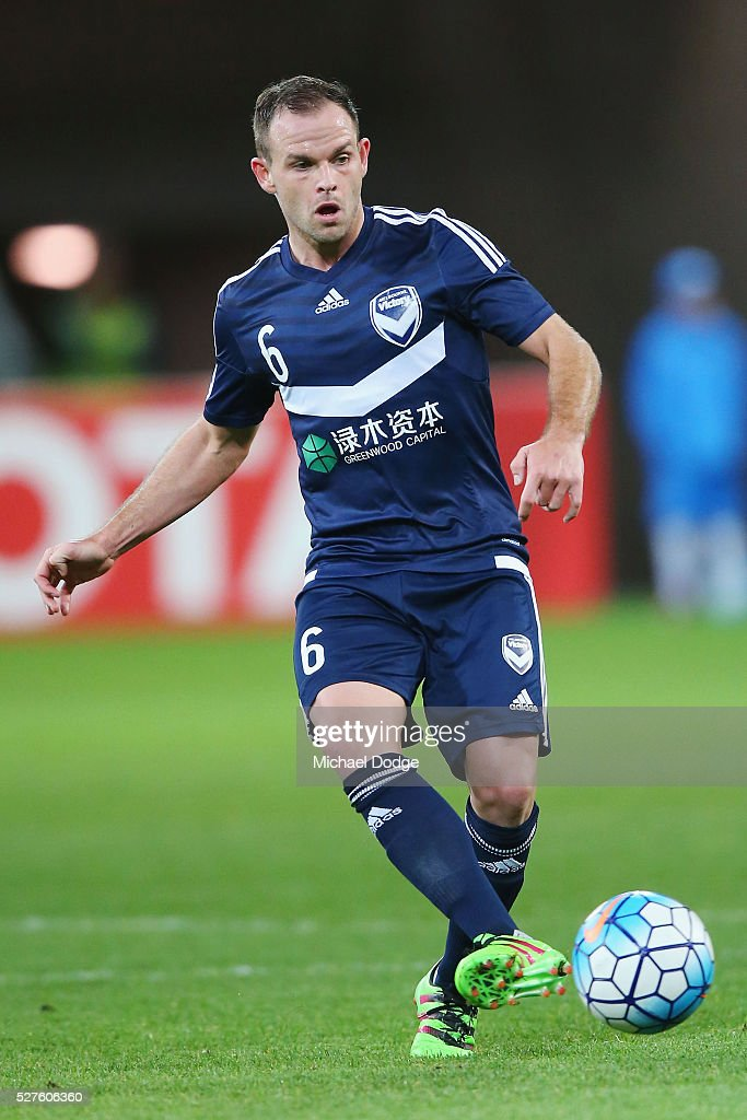Leigh Broxham of the Victory kicks the ball during the AFC Champions League match between Melbourne Victory and Gamba Osaka at AAMI Park on May 3, 2016 in Melbourne, Australia.