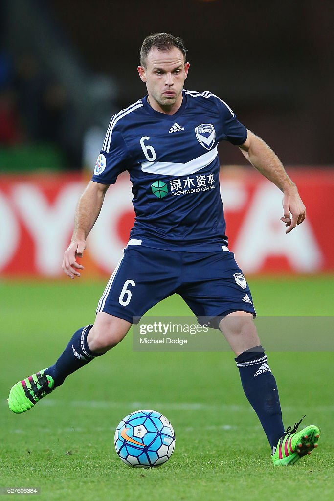 <a gi-track='captionPersonalityLinkClicked' href=/galleries/search?phrase=Leigh+Broxham&family=editorial&specificpeople=4103215 ng-click='$event.stopPropagation()'>Leigh Broxham</a> of the Victory kicks the ball during the AFC Champions League match between Melbourne Victory and Gamba Osaka at AAMI Park on May 3, 2016 in Melbourne, Australia.