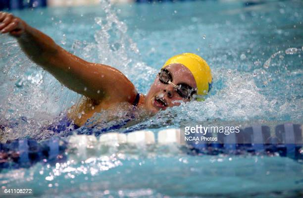 Leigh Campbell of Emory swims toward a fourth place finish in the women's 1650 yard freestyle final during the Division 3 Women's Swimming and Diving...