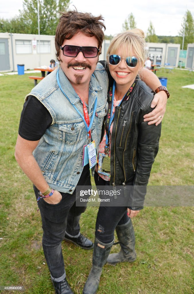 <a gi-track='captionPersonalityLinkClicked' href=/galleries/search?phrase=Leigh+Francis&family=editorial&specificpeople=211146 ng-click='$event.stopPropagation()'>Leigh Francis</a> aka Keith Lemon (L) and guest attend the Mahiki Rum Bar for the launch of the Mahiki Rum Family backstage during day 1 of the V Festival 2014 at Hylands Park on August 16, 2014 in Chelmsford, England.