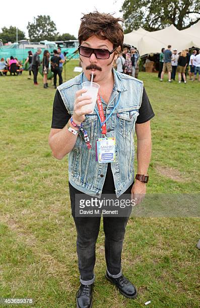 Leigh Francis aka Keith Lemon attend the Mahiki Rum Bar for the launch of the Mahiki Rum Family backstage during day 1 of the V Festival 2014 at...