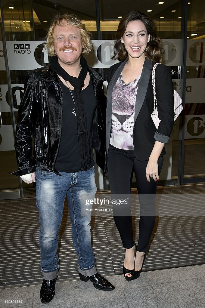 Leigh Francis and <a gi-track='captionPersonalityLinkClicked' href=/galleries/search?phrase=Kelly+Brook&family=editorial&specificpeople=206582 ng-click='$event.stopPropagation()'>Kelly Brook</a> sighted at BBC Radio One Studios on February 28, 2013 in London, England.