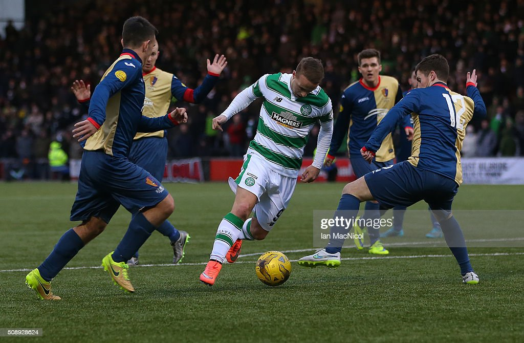 <a gi-track='captionPersonalityLinkClicked' href=/galleries/search?phrase=Leigh+Griffiths&family=editorial&specificpeople=7983356 ng-click='$event.stopPropagation()'>Leigh Griffiths</a> of Celtic runs with the ball during the William Hill Scottish Cup Fifth Round match between East Kilbride and Celtic at Excelsior Stadium on February 7, 2016 in Airdrie, Scotland.