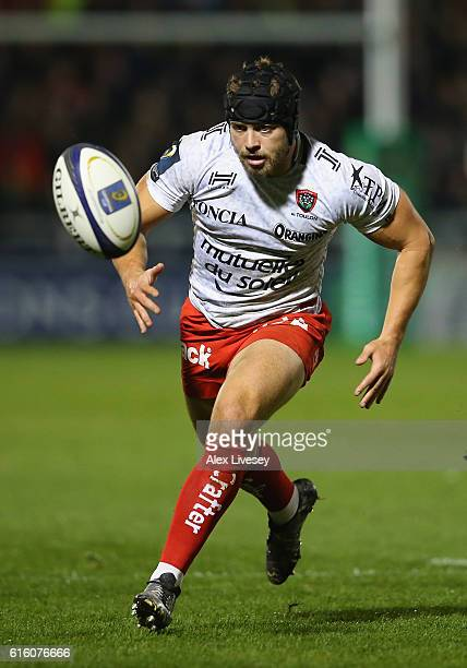Leigh Halfpenny of RC Toulon during the European Rugby Champions Cup match between Sale Sharks and RC Toulon at AJ Bell Stadium on October 21 2016 in...