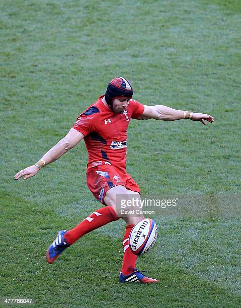 Leigh Halfpenny of Wales during the RBS Six Nations match between England and Wales at Twickenham Stadium on March 9 2014 in London England