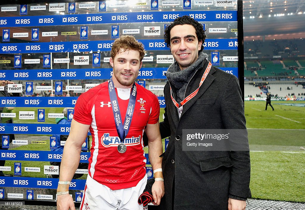 Leigh Halfpenny of Wales poses with his man of the match award after the RBS Six Nations match between France and Wales at Stade de France on February 9, 2013 in Paris, France.