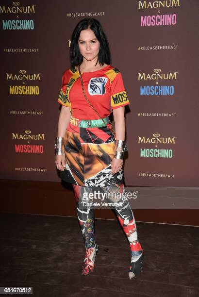 Leigh Lazark attends Magnum party during the 70th annual Cannes Film Festival at Magnum Beach on May 18 2017 in Cannes France