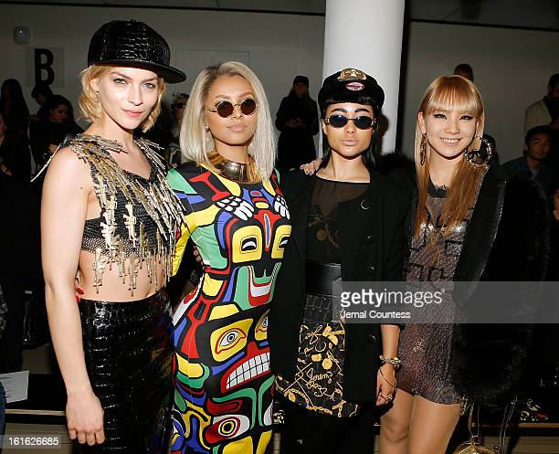 Leigh Lezark actress/singer Kat Graham singer Natalia Kills and singer CL 2ne1 attend the Jeremy Scott fall 2013 fashion show during MADE fashion...
