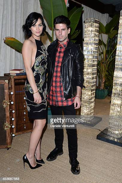 Leigh Lezark and Geordon Nicol attend a private dinner hosted by Swarovski at Soho Beach House in celebration of Guilerme Torres installation MANGUE...