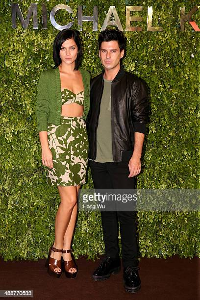 Leigh lezark and Geordon nicol attend the Michael Kors Kerry Centre Flagship Store opening ceremony on May 8 2014 in Shanghai China