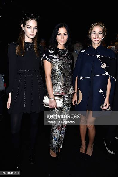 Leigh Lezark and guests attend the Valentino show as part of the Paris Fashion Week Womenswear Spring/Summer 2016 on October 6 2015 in Paris France