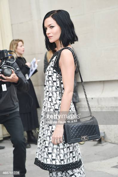 Leigh Lezark arrives at Chanel Fashion Show during Paris Fashion Week Fall Winter 2015/2016 on March 10 2015 in Paris France