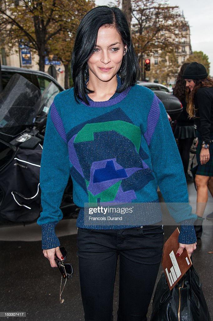 Leigh Lezark arrives at the Miu Miu Spring/Summer 2013 show as part of Paris Fashion Week on October 3, 2012 in Paris, France.