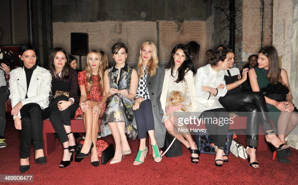 Leigh Lezark Atlanta de Cadenet Taylor Harley VieraNewton Daisy LowePoppy Delevingne and Caroline Sieber attend the Erdem show at London Fashion Week...