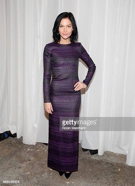 Leigh Lezark attends Christian Siriano Runway at ArtBeam on February 14 2015 in New York City