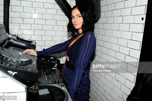 Leigh Lezark attends Espolòn Tequila Hosts Celebration in Partnership with Ai Weiwei Exodus Exhibit at Hotel Chantelle on October 12 2017 in New York...