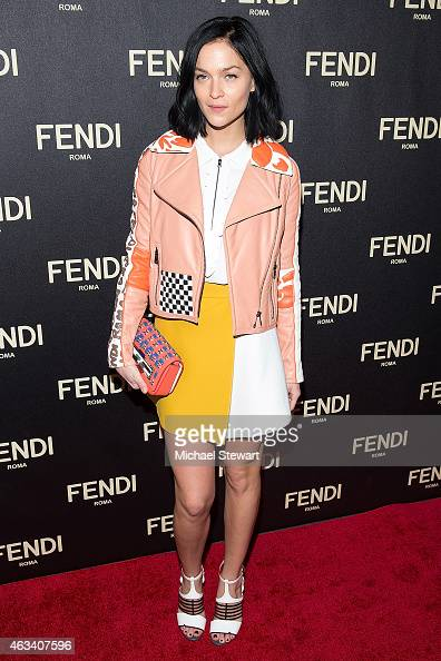Leigh Lezark attends Fendi New York Flagship Boutique Inauguration Party during MercedesBenz Fashion Week at Fendi Madison Avenue on February 13 2015...