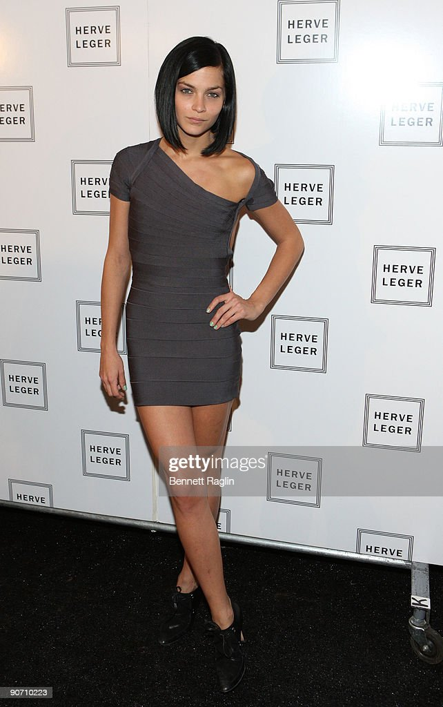 DJ <a gi-track='captionPersonalityLinkClicked' href=/galleries/search?phrase=Leigh+Lezark&family=editorial&specificpeople=618872 ng-click='$event.stopPropagation()'>Leigh Lezark</a> attends Herve Leger By Max Azria Spring 2010 during Mercedes-Benz Fashion Week at Bryant Park on September 13, 2009 in New York City.