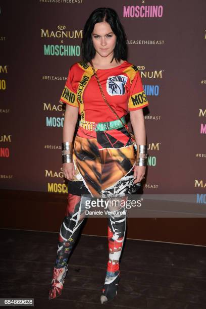 Leigh Lezark attends Magnum party during the 70th annual Cannes Film Festival at Magnum Beach on May 18 2017 in Cannes France