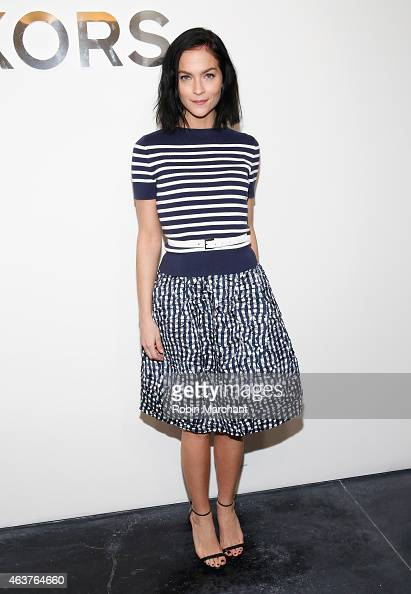 Leigh Lezark attends Michael Kors Fashion Show at Spring Studios on February 18 2015 in New York City