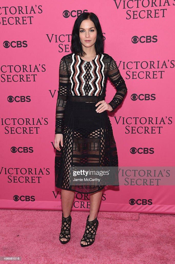 DJ Leigh Lezark attends the 2015 Victoria's Secret Fashion Show at Lexington Avenue Armory on November 10, 2015 in New York City.